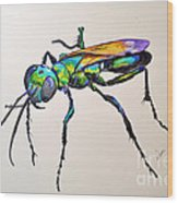 Rainbow Insect Wood Print