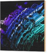 Rainbow Jaguar Wood Print