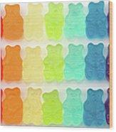Rainbow Jelly Bear Candy Wood Print