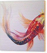 Rainbow Koi Wood Print