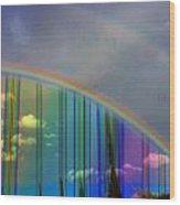 Rainbow Landscape Wood Print