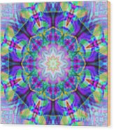 Rainbow Lotus Wood Print