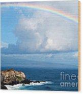 Rainbow Maui Hawaii Wood Print