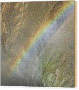 Rainbow Mist Wood Print