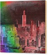 Rainbow On Chicago Mixed Media Textured Wood Print