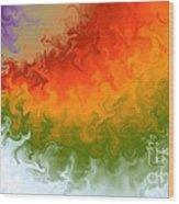 Rainbow On Fire Wood Print