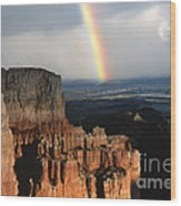 Rainbow Over  Bryce Canyon Wood Print