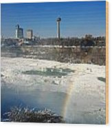 Rainbow Over Canada Wood Print