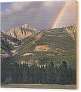 Rainbow Over Colin Range Jasper Np Wood Print