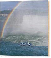 Rainbow Over Niagara. Wood Print
