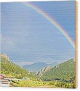 Rainbow Over Rollinsville Wood Print