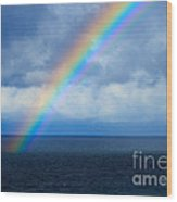 Rainbow Over The Atlantic Ocean Wood Print
