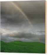 Rainbow Over The Mahoosucs Wood Print