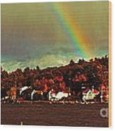 Rainbow Over Winnipesaukee Two Wood Print