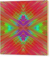Rainbow Passion Abstract 1 Wood Print