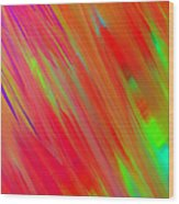 Rainbow Passion Abstract Upper Left Wood Print