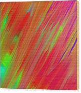 Rainbow Passion Abstract Upper Right Wood Print