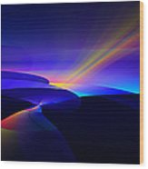 Rainbow Pathway Wood Print