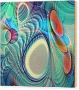 Rainbow Play Wood Print by Anastasiya Malakhova