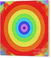 Rainbow Reality Wood Print by Mariola Bitner