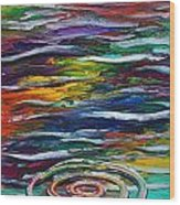 Rainbow Ripple Wood Print