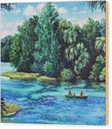 Rainbow River At Rainbow Springs Florida Wood Print
