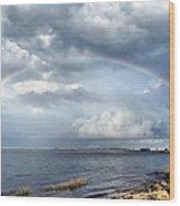 Rainbow Seascape Wood Print