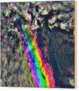 Rainbow Skies Wood Print
