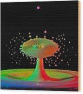 Rainbow Splash Wood Print