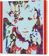 Rainbow Splattered Get A Little Closer Wood Print