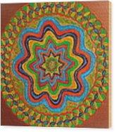 Rainbow Star Wood Print