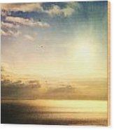 Rainbow Sunburst Wood Print
