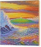 Rainbow Sunset II Wood Print