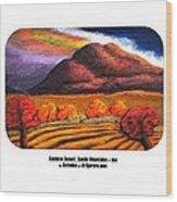 Rainbow Sunset Sandia Mtns Wood Print