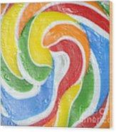 Rainbow Swirl Wood Print by Luke Moore