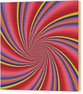 Rainbow Swirls Wood Print
