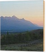 Rainbow Tetons Wood Print