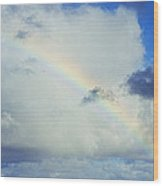 Rainbow Through The Clouds, Oahu Wood Print