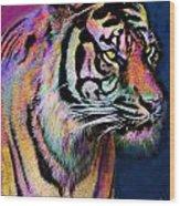 Rainbow Tiger Wood Print