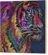 Rainbow Tiger Variant Wood Print