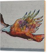 Rainbow Warrior Flying Eagle Wood Print