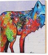Rainbow Warrior - Fox Wood Print