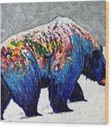 Rainbow Warrior - Heavy Going Grizzly Wood Print