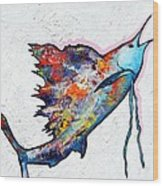 Rainbow Warrior - Sailfish Wood Print