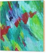 Rainbow Waterfall Wood Print