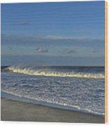 Rainbow Wave Seaside New Jersey Wood Print