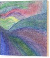 Rainbow Way Wood Print