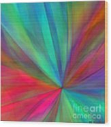 Rainbow Wheel Wood Print by ME Kozdron