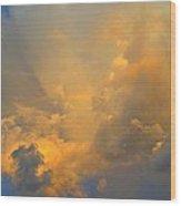 Rainbow With Sunrise Colors Over Pensacola Beach Wood Print