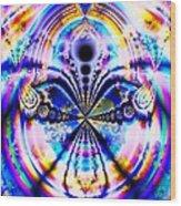 Rainbows And Dragonflies Wood Print